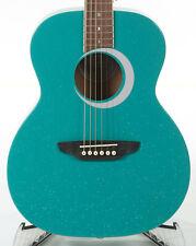 Luna Aurora Borealis 3/4-Size Acoustic Guitar - Teal Sparkle