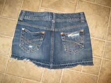 Aeropostale Womens Distressed Jean Skirt Sz 1 / 2