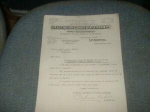 1919 MAGUIRE PATERSON+PALMER LIVERPOOL MATCH MAKERS LETTERHEAD MATCHBOX LABELS