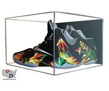 Uv Protect Acrylic Wall Mount Small Shoe Pair Display Case Size 115 And Under