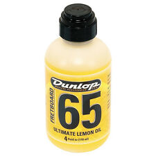 Dunlop Fretboard 65 Ultimate Lemon Oil Fretboard Conditioner, 4 oz. +Picks