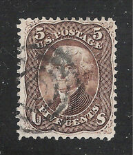 U.S. Scott 76 Brown Jefferson 5 cent stamp.