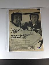 Paul Hornung, Packers Signed Magazine Page PSA Graded 10 GEM-MINT W/Roger Maris