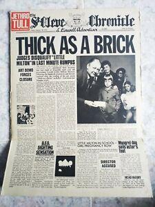 LP  Jethro Tull – Thick As A Brick (GIORNALE) - 1972  ---  RARO 1st Press UK