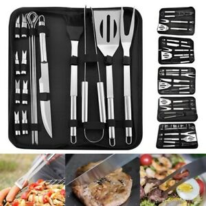 Stainless Steel BBQ Grill Tools Set Utensils Accessories Outdoor Grilling Set
