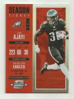 Jay Ajayi 2017 Contenders Optic Red Football Card 12/199