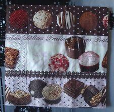 """Lot 3 serviettes en papier """"Délice praliné et chocolat"""" (Paper Napkins)"""