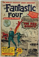 Fantastic Four 13 (1963) VG Intro Watcher! First Red Ghost!