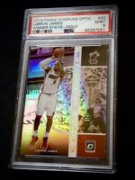 LEBRON JAMES 2019/20 PANINI DONRUSS OPTIC #20 WINNER STAYS HOLO PSA MT 9 🔥🔥🔥