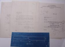 1933 Lamson Goodnow J T O Connell Newport RI Hardware Blueprint Ephemera L374D