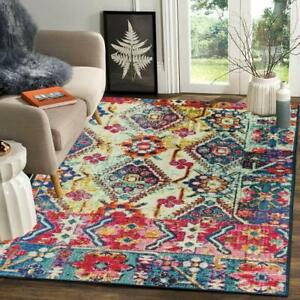 3D Printed Polyester Floor Carpet Mats with Anti Skid Backing (Multicolor,4X6Ft)