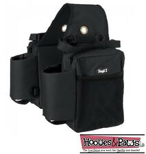 TOUGH 1 BLACK Trail Deluxe Heavy duty Saddle BAG bags INSULATED Horse Tack