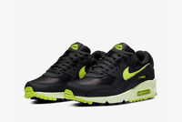 Nike Air Max 90 Women's Leather Sneakers Black Casual WMNS Shoes CZ0378-001