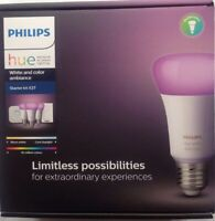 Philips Hue White and Colour Ambience E27 Starter Kit works with Alexa MFR BNIB