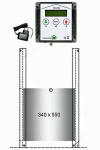 JOSTechnik automatische Hühnerklappe HK-ZSU + Schaltuhr, Gänseklappe 340x550 mm