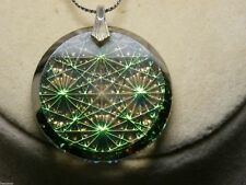 Green Silver PENDANT FASHION Jewelry NECKLACE Vintage ANTIQUE Women Chain