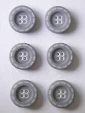 50 x Dark Navy Ring Edge 17mm 4 Hole Buttons HB//25