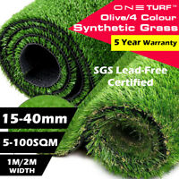 Artificial Synthetic Grass 5-100SQM Turf Plastic Fake Faux Plant Lawn 15mm-40mm
