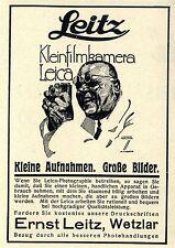 Ernst Leitz Wetzlar Kleinfilmkamera Leica Kleine Aufnahmen Große Bilder von 1929