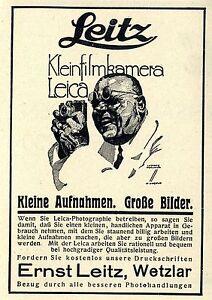 Ernst Leitz Wetzlar Kleinfilmkamera Leica Kleine Aufnahmen Große Bilder von 1930