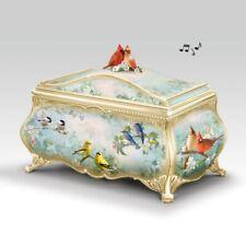 Bradford Exchange Joe Hautman Songbird Artwork Porcelain Music Box 22K Gold New