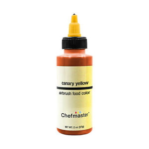 Chefmaster 2-Ounce Canary Yellow Airbrush Cake Decorating Food Color