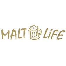 Malt Life With Mug Silhouette Vinyl Decal Sticker in (Dark Colors)