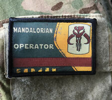 Boba Fett Mandalorian Operator Morale Patch Tactical Star Wars Military Army USA