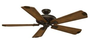 "Casablanca 60"" Fellini Cocoa Finish 4 Speed Wall Control Ceiling Fan 55035"