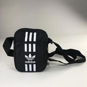 Adidas Original 3 Stripes Small Item Black White Messenger Crossbody Bag FM2975