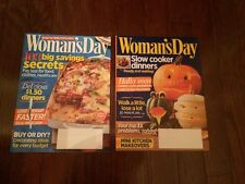 Two NEW Issues WOMAN'S DAY Magazine Sep-Oct 2013 Halloween DIY Decorating