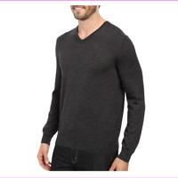 Calvin Klein Men's Merino Wool Long Sleeve Pullover V-Neck Sweater Shirt