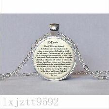 23rd PSALM JEWELRY Scripture Necklace Psalm 23 Necklace Bible Verse Jewelry