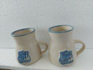 Blue Moon Newfoundland Pottery Set of 2 Mugs, Junior Forest Wardens.