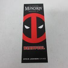 Steve Jackson Games USAopoly Marvel Munchkin Deadpool Bookmark NEW