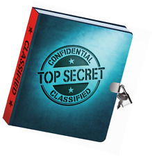 Locking Diaries Password Journals Top Secret Notebook with Key Lock Kids Diary