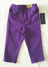 Brand New With Tag RALPH LAUREN Purple Bowery Skinny Crest Back Pocket Jeans