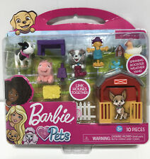 Barbie Pets Farm Playset 10 Pieces New ~ Free Shipping