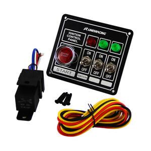 LR Racing Switch Panel Ignition Engine Start Rocker 3 Pins & Lights Switch Panel