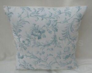 "Laura Ashley Designer Cushion Cover ""IRONWORKS SCROLL"" Duck Egg Various Sizes"