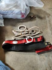Rose Mfg Co Safety Belt Harness with Tie off 501095 Medium 1991 Tether, Climbing