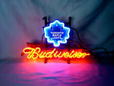 TORONTO MAPLE LEAFS Hockey Real Glass Beer Bar Pub Store Neon Light Sign