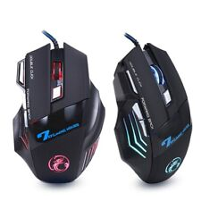 Wired Gaming Mouse 7 Buttons LED 5500DPI USB Gamer Mice Silent Mause Backlight