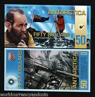 ANTARCTICA 50 Dollars New 2010 ART UNC POLYMER Herbert CURRENCY MONEY BILL NOTE