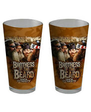 Two Duck Dynasty Pint Glasses Brother of the Beard 16 oz Glass NEW