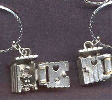 New Funny OUTHOUSE PENDANT NECKLACE-Camping Country Charm Costume Jewelry-OPENS!