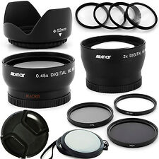 Professional Wide + Tele Lens Kit for Nikon AF-S DX Nikkor 18-55mm,AF-S 55-200mm