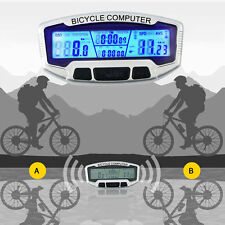 Wired LCD Bicycle Bike Cycling Computer Odometer Speedometer Velometer SD-558A A