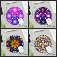 PC Mouse Pad Gaming Art Vintage Non Slip Rubber Mat Round Shape Table Decor Rug