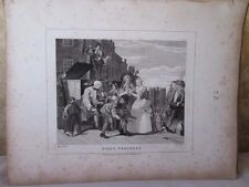 Vintage Print,RAKES PROGRESS,Plate 4,Hogarth,1807